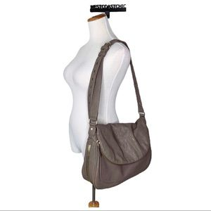 Big Buddha Mocha Brown Faux Leather Large Hobo